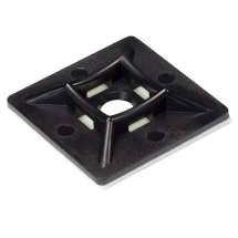 Black Cable Tie Mounts Self Adhesive