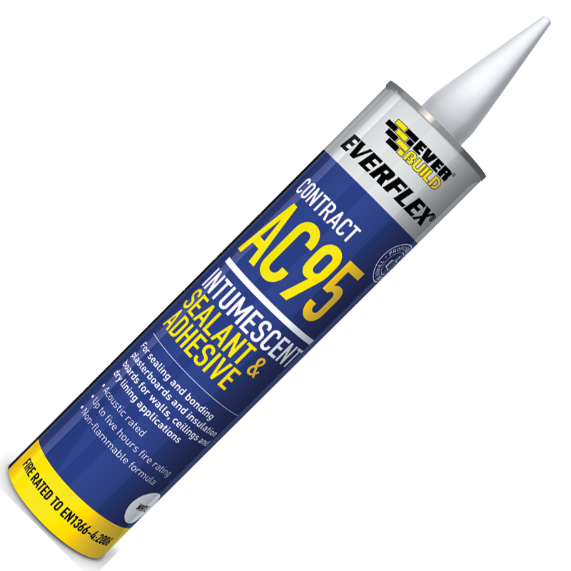 900ml White Intumescent Acoustic Sealant & Adhesive