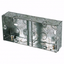 35mm Dual Box Flush Back Boxes - Steel