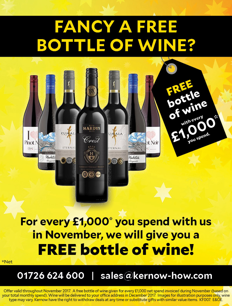FANCY A FREE BOTTLE OF WINE?