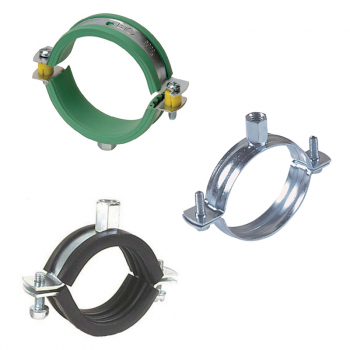 Hygienic Stainless Steel Unlined Pipe Clamps - Hinged